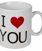 Koffiebeker i love you 380 ml trend
