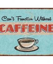 Koffietentje wandplaat caffeine 30 x 40 cm trend