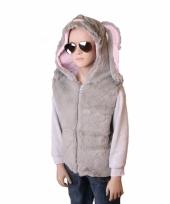 Konijn vestje met capuchon voor kinderen trend