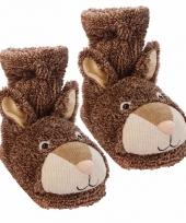 Konijnen sokken bruin trend