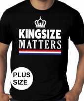 Koningsdag kingsize matters grote maten shirt zwart heren trend