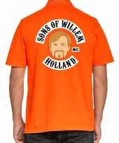 Koningsdag poloshirt sons of willem holland oranje voor heren trend