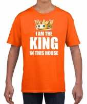 Koningsdag t-shirt im the king in this house oranje jongens trend