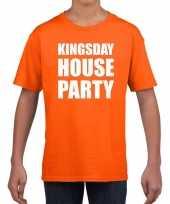 Koningsdag t-shirt kingsday house party oranje voor kinderen trend