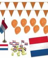 Koningsdag thuis vieren met gezin versiering pakket groot trend