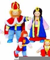 Koningsfamilie poppen 6 stuks trend