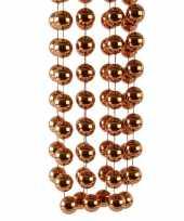 Koper bruine kerstversiering kralenketting 270 cm trend