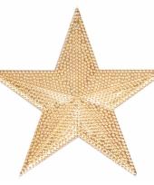 Koperen ster voor in de kerstboom 10 cm trend