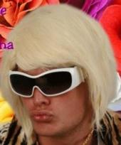 Korte blonde feest pruiken d j trend