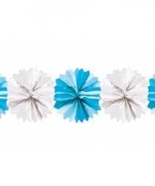 Kraamdecoratie slinger blauw en wit trend