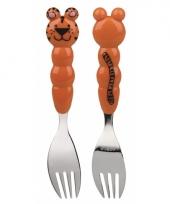 Kraamkado bestek vork tijger trend