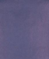 Kraft geschenkpapier blauw 70 x 200 cm trend