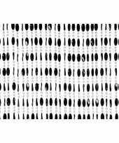 Kralengordijn deurgordijn zwart 90 x 220 cm trend