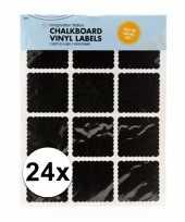 Krijtbord etiket stickers 24 stuks trend