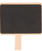 Krijtbordje op knijper 7 x 5 cm trend
