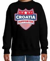 Kroatie croatia schild supporter sweater zwart voor k trend