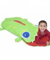Krokodil slaapzak groen zomer trend