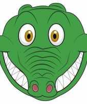 Krokodillen maskers van karton trend