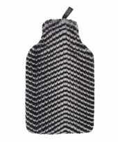 Kruik met nep bont zebra hoes 2 liter trend