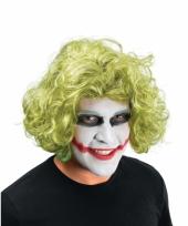 Krullen pruik groen joker trend