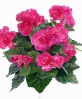 Kunst begonia roze 30 cm trend