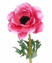 Kunst bloem anemoon roze 47 cm trend