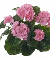 Kunst franse geranium roze 35 cm trend