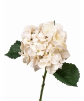 Kunst hortensia wit 48 cm trend