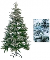 Kunst kerstbomen met sneeuw 150 cm trend