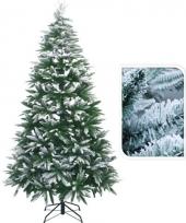 Kunst kerstbomen met sneeuw 210 cm trend