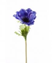 Kunstbloem anemoon blauw trend