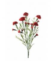 Kunstbloem anjer rood trend 10086408