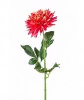 Kunstbloem dahlia rood trend