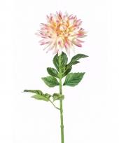 Kunstbloem dahlia roze trend