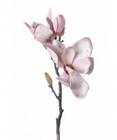Kunstbloem magnolia roze trend