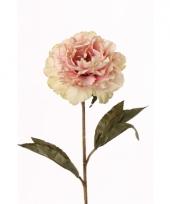 Kunstbloem pioenroos roze 67 cm trend