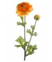 Kunstbloem ranonkel oranje trend