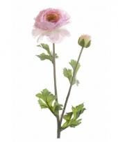Kunstbloem ranonkel roze trend