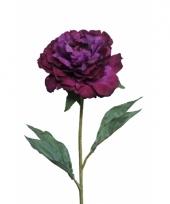 Kunstbloemen pioenroos paars 67 cm trend