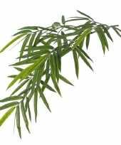 Kunstplant groene bamboe hangplant tak 82 cm uv bestendig trend
