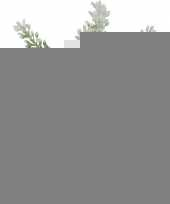 Kunstplant witte lavendel in rieten mandje 19 cm trend