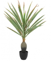 Kunstplant yucca groen rood in pot 120 cm trend