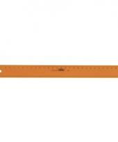 Kunststof linialen 30 cm oranje trend