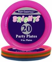 Kunststof neon borden 20 stuks trend