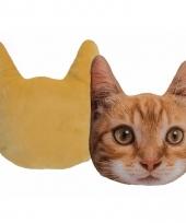 Kussen poes kat rood 30 cm trend