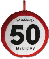 Kussentje happy birthday 50 jaar trend