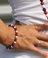 Landen armband rood wit blauw trend