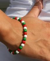 Landen kralen armband groen rood wit trend