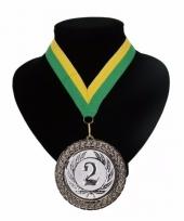Landen lint kampioensmedaille groen en geel trend 10088782