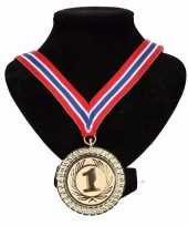 Landen lint nr 1 medaille rood wit blauw trend 10091789